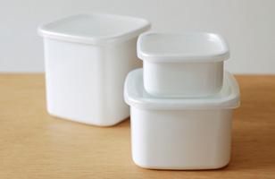 野田琺瑯 ホワイトシリーズ琺瑯容器