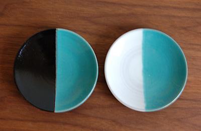 中井窯 染分4寸皿
