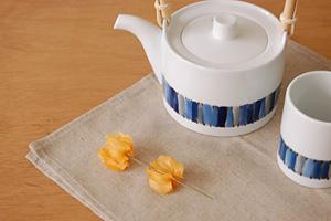 白山陶器 キルト土瓶&湯呑