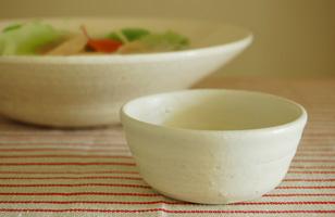 益子焼 アイボリー豆鉢
