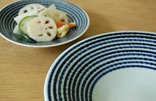 波佐見焼 藍駒5.5寸皿・小皿