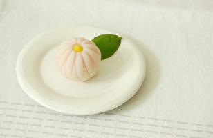 益子焼 粉引リム小皿