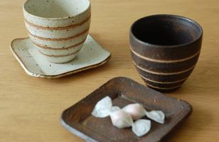 美濃焼 カップ&小皿
