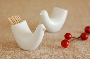 白山陶器 とり型ようじ立て/TOTTO
