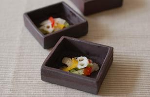 益子焼 鉄錆豆鉢