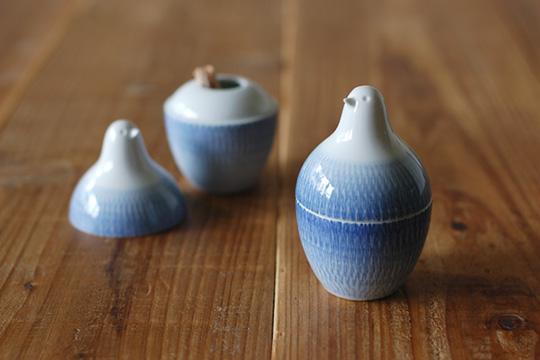 白山陶器 とり型蓋付きようじ立てピッコロ