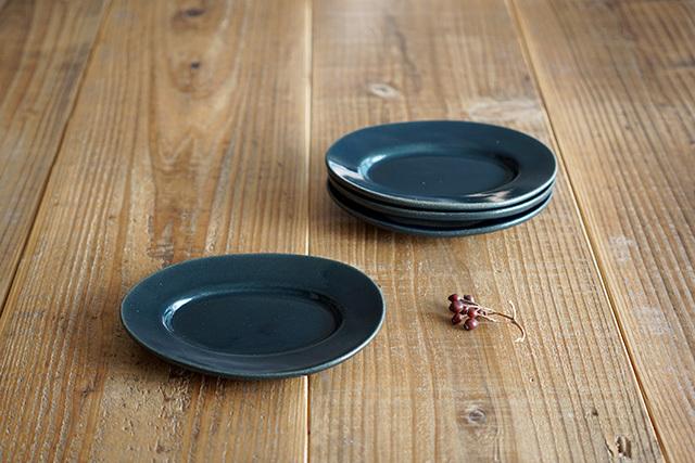 益子焼(よしざわ窯) 楕円リム小皿