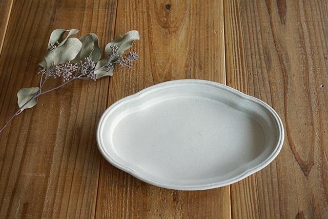 益子焼(よしざわ窯) 木瓜皿