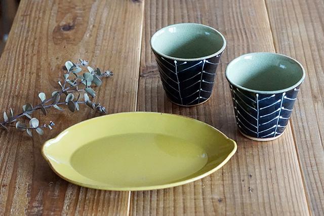 sen 檸檬皿、森のカップ